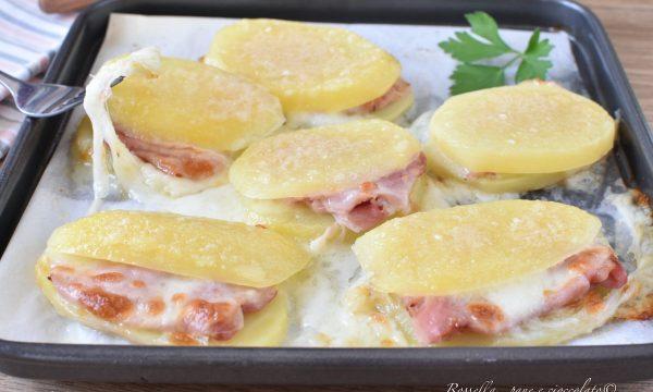 PATATE Ripiene al Parmigiano Cotto e Mozzarella Ricetta Antipasto