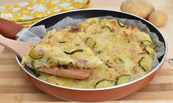 Sformato in Padella di ZUCCHINE con Patate e Mozzarella Ricetta Antipasto