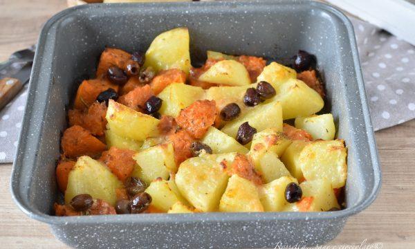 CONTORNO di Patate e Zucca al Forno con gratinatura al Parmigiano