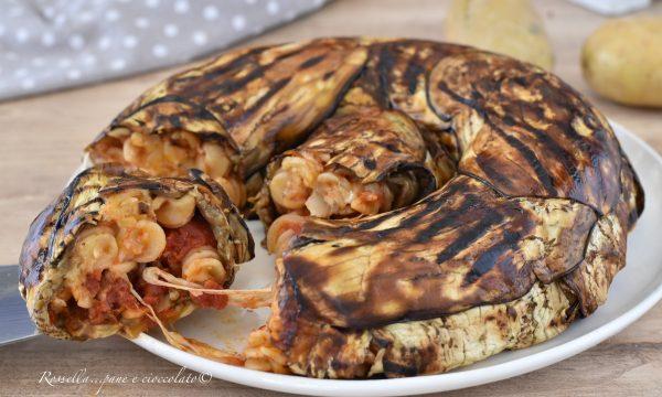 Ciambella di Melanzane e Pasta la Ricetta con Mozzarella filante al centro!