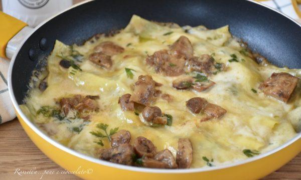 LASAGNE in Padella Funghi e Besciamella Ricetta Primo Piatto in 20 min