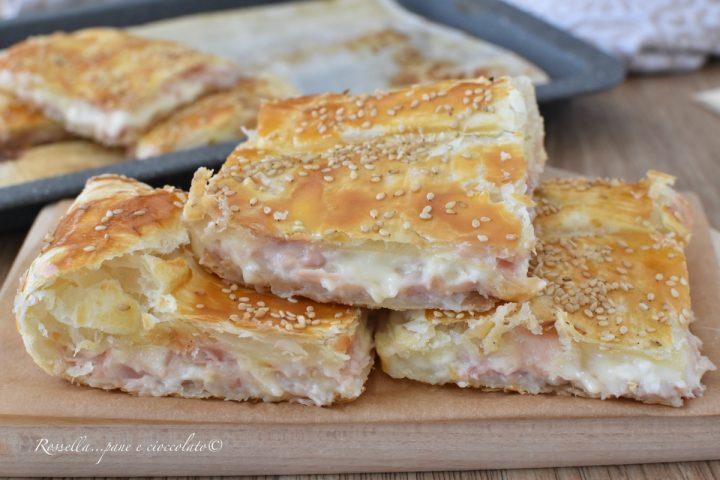 Parigina Stracchino e Prosciutto Cotto Ricetta Antipasto di Pasta Sfoglia