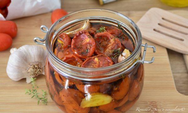 Pomodori sott olio da Contorno Cotti in forno Ricetta casalinga facile