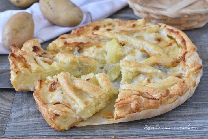 TORTA Salata PATATE e Gorgonzola la Ricetta con Pasta Sfoglia veloce