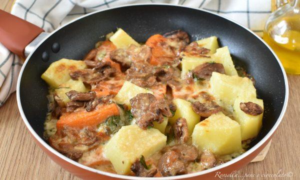 Zucca PATATE e Funghi in Padella gratinato Ricetta CONTORNO