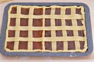 Crostata due Gusti Nutella e Marmellata Cottura in una sola teglia!