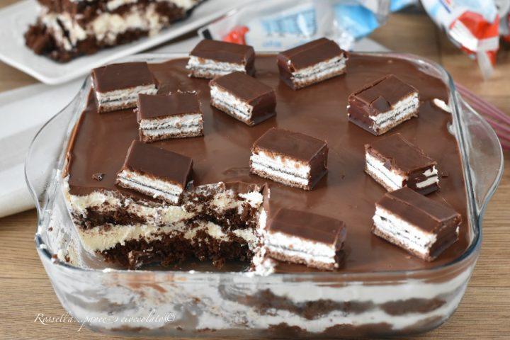DOLCE con Kinder Pingui tipo Tiramisù la Ricetta del dessert che amerai!