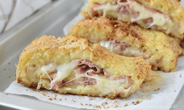 Polpettone di Patate al Forno Ripieno la Ricetta filante con mozzarella