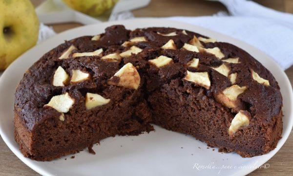 TORTA di MELE Umida al Cioccolato con Ricotta nell' Impasto la Ricetta facile