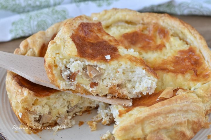 Torta Riso e Ricotta Salata la Ricetta Ripiena gustosa di Pasta Sfoglia !