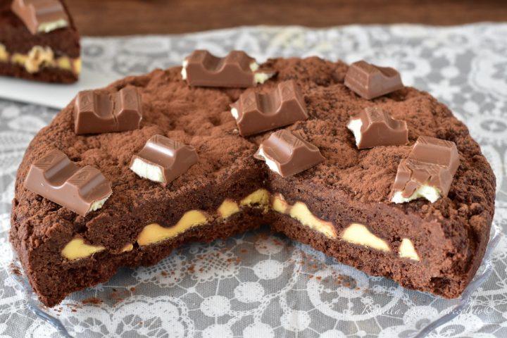 CROSTATA Ripiena di Barrette Kinder al Cioccolato DOLCE di Pasta frolla