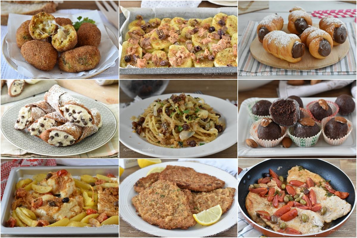 RICETTE della Cucina Siciliana dall' Antipasto al Dolce facili e semplici