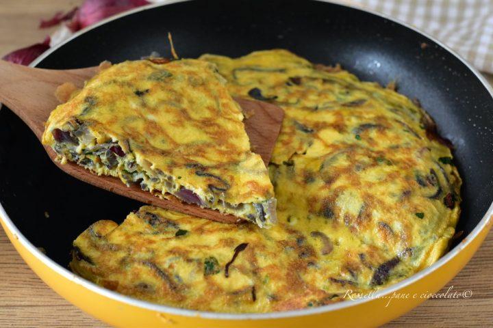 Frittata con le Cipolle Rosse alla Siciliana la Ricetta gustosa anche Antipasto