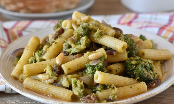 PASTA con Broccoli alla Siciliana ( la Ricetta del Piatto con Broccoli arriminati )