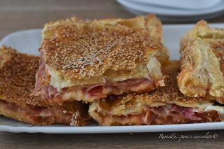 Rustico alla Siciliana con Pasta Sfoglia ripieno al Prosciutto e mozzarella