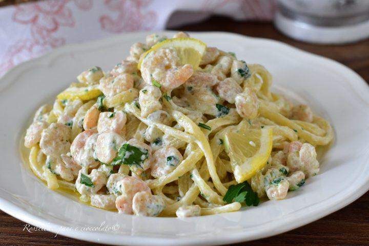 Spaghetti Gamberi e Limone La RICETTA di PASTA semplice e cremosa