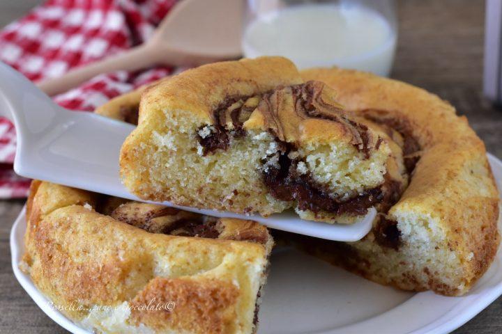 TORTA al Latte del 5 con Nutella il DOLCE che non sporca ciotole