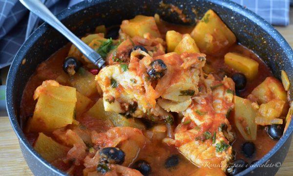 BACCALA in Umido alla Siciliana con Patate la ricetta ricca e semplice