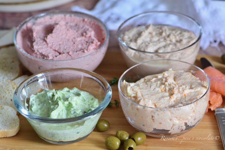 Creme Salate per ANTIPASTO per Ricette con Pasta Sfoglia o Pancarrè