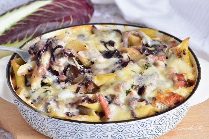 Pasta al Forno con Radicchio Speck e Provola il Piatto filante facile