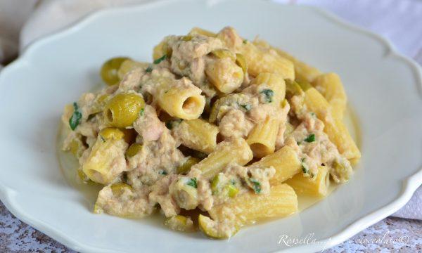 PASTA Crema Tonno e Olive il Primo Piatto gustoso e Senza Panna
