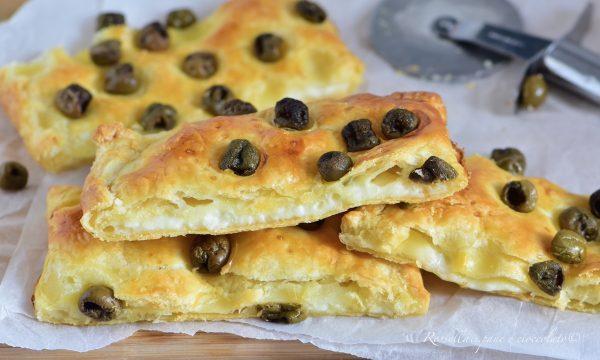 Sfoglia al Formaggio e olive Ripiena la Ricetta per Antipasto facile