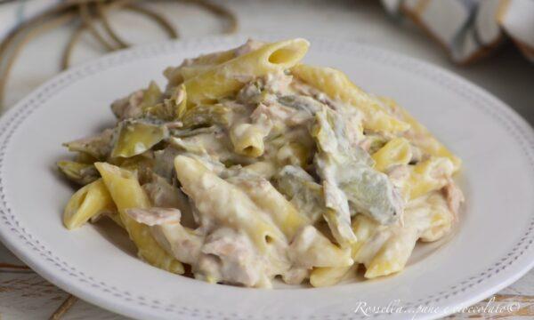 Pasta Carciofi Tonno e Philadelphia la ricetta del primo piatto saporito