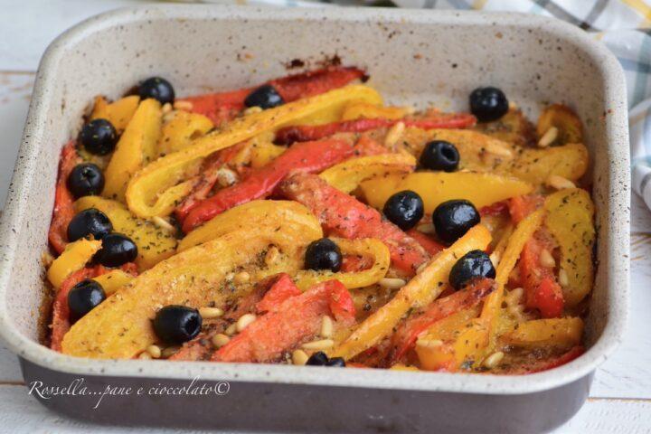Peperoni alla Siciliana gratinati al Forno CONTORNO con ricetta facile