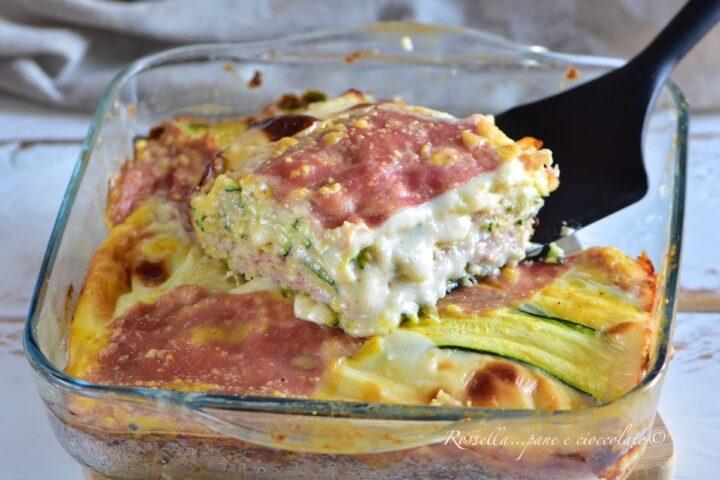 Tortino di Zucchine al Forno non fritte la Ricetta Filante del piatto facile