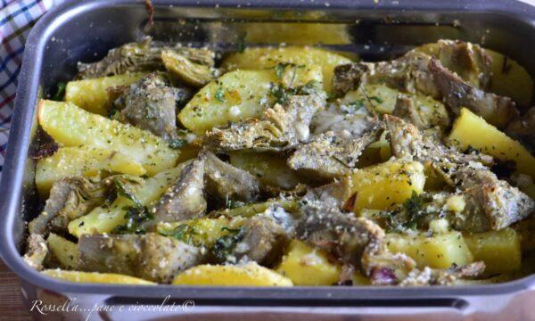 CARCIOFI e Patate alla Napoletana al Forno un Contorno gratinato e saporito