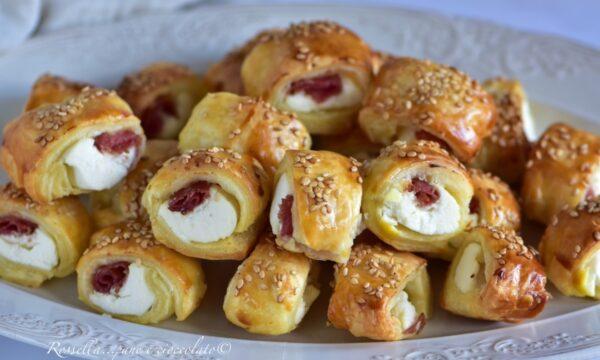 Rustici Mini Salame e Ricotta da ANTIPASTO con Pasta Sfoglia