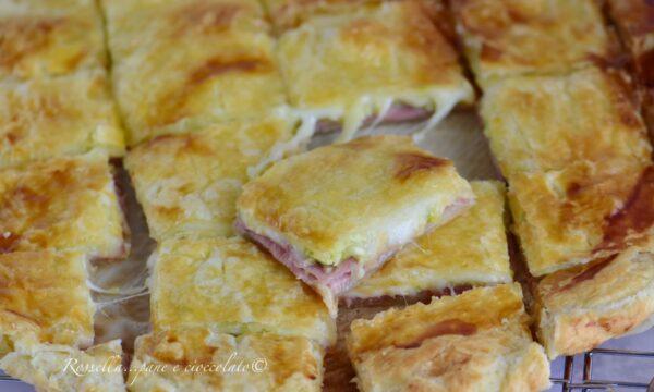 Torta Sfoglia Zucchine e Prosciutto cotto l' Antipasto filante e gustoso