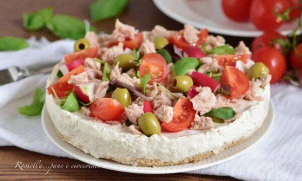 Cheesecake Salata Tonno e Olive l' ANTIPASTO originale che piace