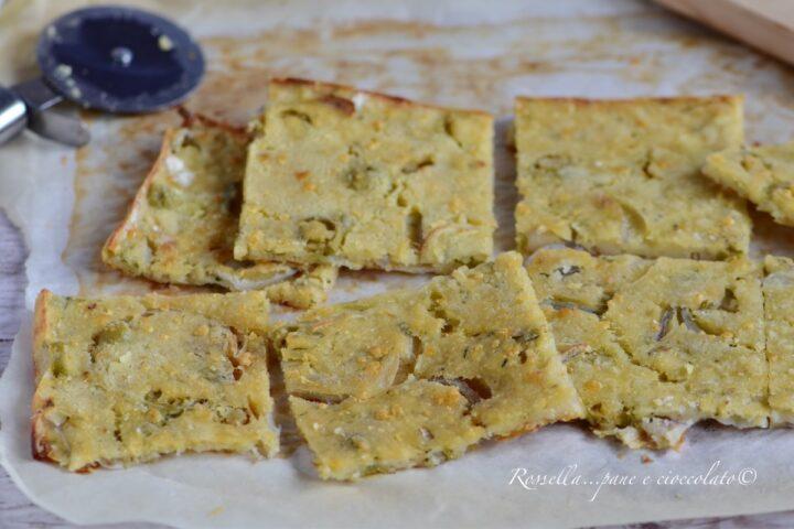 Schiacciata Cipolle ed Olive la Ricetta senza Lievito Croccantissima