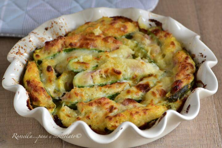 TORTA di Zucchine ripiene con Patate e Prosciutto Cotto