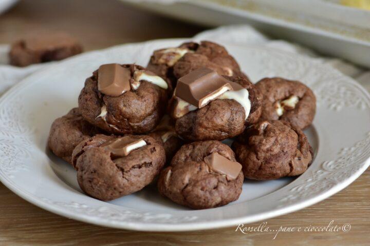 BISCOTTI al Cioccolato Kinder RICETTA DOLCI in 5 Minuti