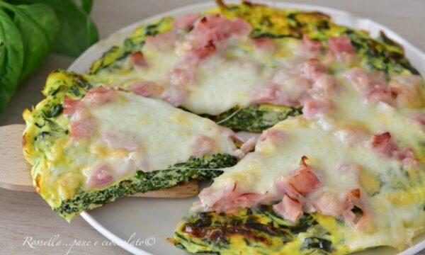 Frittata di Ricotta Spinaci e Zucchine RICETTA Piatto completo