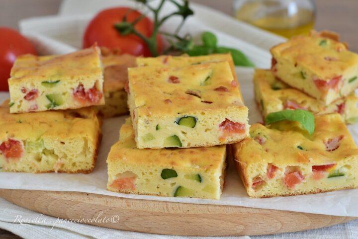Torta Salata con Tonno Zucchine e Pomodori al Bicchiere Ricetta facile