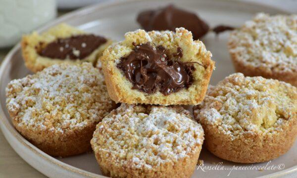 SBRICIOLATINE Muffin alla Nutella Ricetta facile Dolci Monoporzione