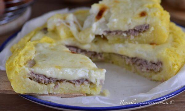TORTINO di PATATE e Salsiccia la Ricetta con la crosticina croccante