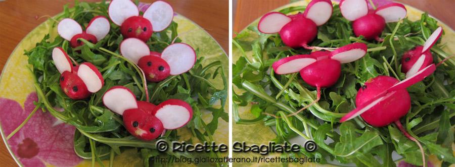 decorazioni per buffet topolini ravanello