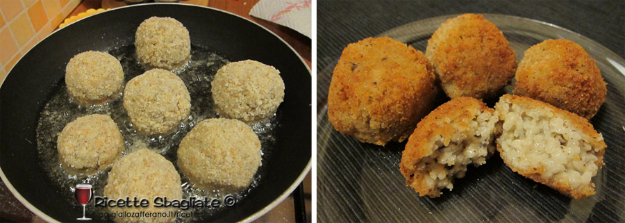 arancini asiago e tartufo, ricetta riciclo antipasto