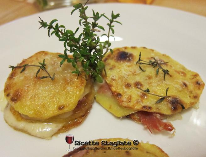 Sformatini di patate, prosciutto e formaggio, ricetta antipasto o secondo piatto