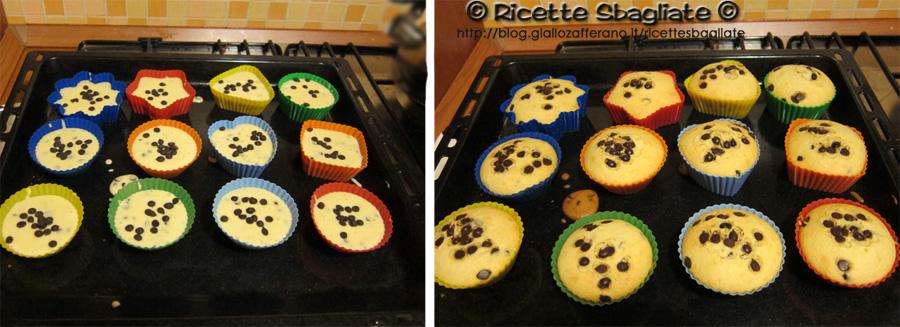Muffin con gocce di cioccolato leggeri e soffici