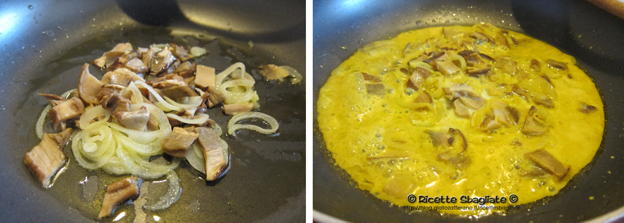 Fettuccine zafferano e funghi porcini