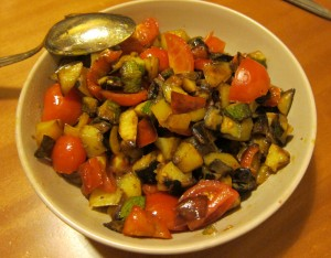 ratatouille di verdure in padella