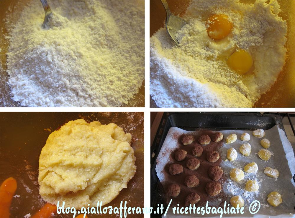 preparazione biscotti al cocco