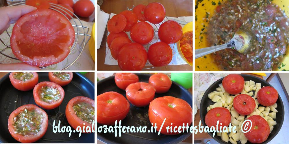 pomodori con riso preparazione