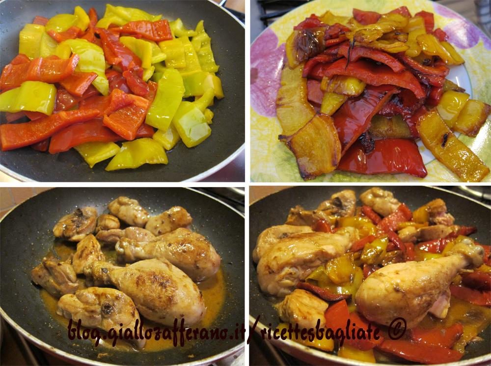 Pollo con i peperoni preparazione