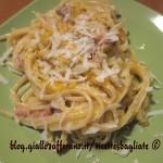 pasta alla zucca pecorino e pancetta